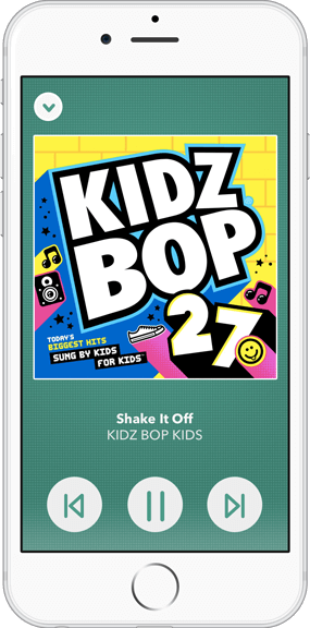 KIDZ BOP for your Rhapsody app in KIDS mode